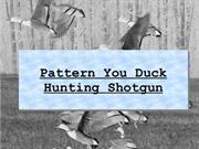 Pattern You Duck Hunting Shotgun