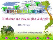 Tin 3, bài 7 : ve tu do bang co ve but chi