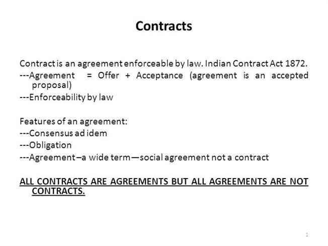 Indian Contract Act 1872 |Authorstream