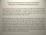 Travel Portal Development Company, Travel Portal Developers