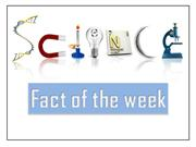 science fact of the week