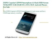 ZOPO Captain S ZP990 Smartphone 6.0 Inch FHD Screen MTK6589T 1GB 32GB