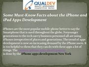 Facts about the iPhone and iPad Apps Development