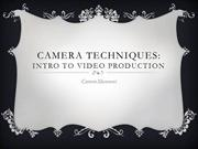 Camera Techniques Camer Movements wk 2