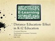 ETEC 645 Distance Learning