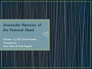 Unit 6 Presentation Avascular Necrosis of Femoral Head