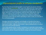 Improving your profile to sell your stockphotos