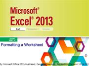 Excel 2013 Illustrated Unit C-D-Revised