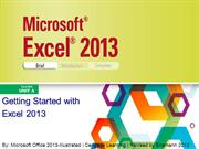 Excel 2013 Illustrated Unit A-B-revised