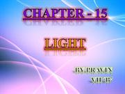 PPT on light by PRAVIN