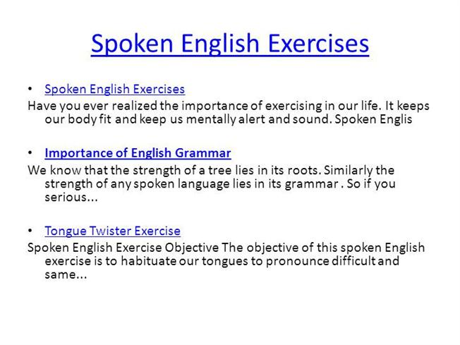 Basic Spoken English Pdf