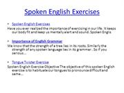 Spoken English Exercises