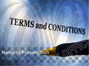 Terms And Conditions PowerPoint Template Backgrounds