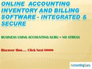 Online Inventory, Billing Software and Cloud Accounting Software