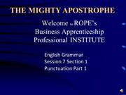 apostrophe (Narrated)