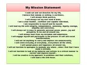 My Mission Statement
