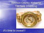 Baldwin County Foreclosure Tax Sale Investing