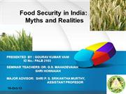 Food Security in India: Myths and Realities
