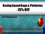 Boxing Speed Bags and Platforms at 15% OFF