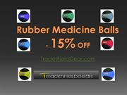 Rubber Medicine Balls at 15% OFF - Track and Field Gear
