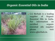 Organic Essential Oils in India