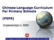 Chinese Language Curriculum For P5, P6