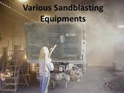 Various Sandblasting Equipments