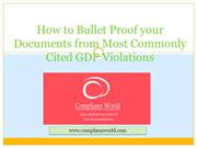 How to Bullet Proof your Documents from  GDP Violation