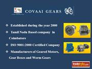 Gear Boxes Manufacturers,Covaai Gears, coimbatore,