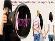 Matrimonial Detective agencies in Delhi, Detective in Delhi