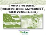 MFour & POS: national political survey held on mobile & tablet devices