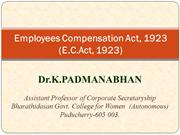 Employees Compensation Act -1923