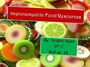 Biology - Improvement in Food Resources