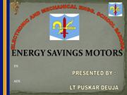 Energy Savings Motors