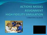 ACTIONS MODEL ASSIGNMENT