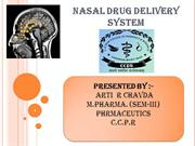 Nasal drug deliverysystem