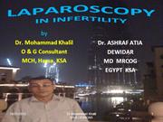 Laparoscopy and infertility   ASHRAF ATIA DEWIDAR