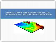 HAND-a hydrologically relevant new terrain model