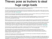 Thieves pose as truckers to steal huge cargo loads