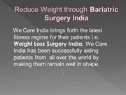 Reduce Weight through Bariatric Surgery India