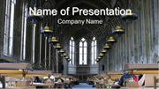University Library PowerPoint Template Backgrounds