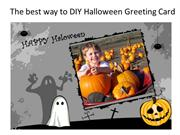 Halloween gift -How to DIY Halloween greeting card quickly