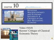 #10.01 -- Keynes' Critique of Classical Economic Theory (6:08)