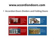 Accordion Doors Dividers and Folding Doors