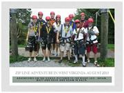 LATEST Zip Line Adventure in West Virginia August 2013