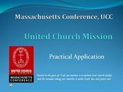 United Church Mission practical considerations
