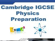 Cambridge IGCSE as level Physics course