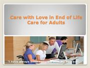 Care with Love in End of Life Care for Adults