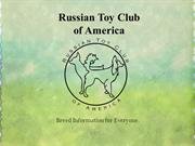 Russian Toy Club of America, Inc dog breed slide show