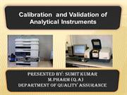 calibration of analytical instrument
